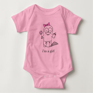Girl Baby Beaver Baby Bodysuit