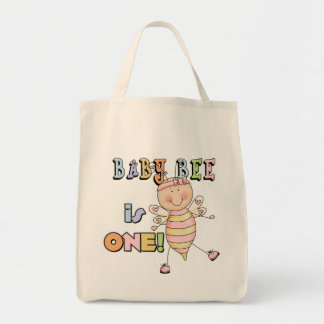 Girl Baby Bee 1st Birthday Tshirts and Gifts Tote Bag