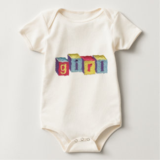 Girl Baby Blocks Baby Bodysuit