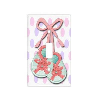 Girl Baby Booties Light Switch Covers