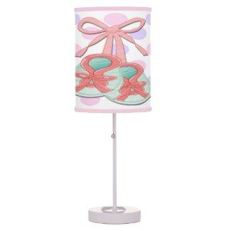 Girl Baby Booties Table Lamp