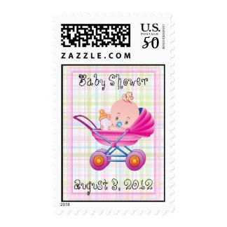 Girl Baby Buggy Shower Postage