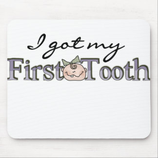 Girl Baby First Tooth Mouse Pad