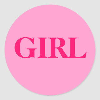 Girl - Baby Gender Reveal Party Game Sticker