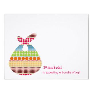 Girl Baby Shower Boho Dots Bundle 4.25x5.5 Paper Invitation Card