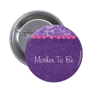 Girl-baby shower button