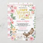 Girl Baby Shower By Mail Pandemic Woodland Animal Invitation