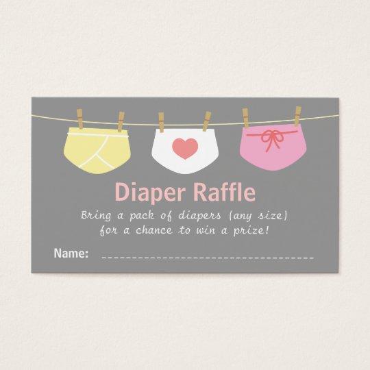 girl baby shower cute diaper raffle tickets zazzle