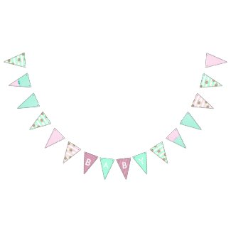 Girl Baby Shower Floral Pink and Teal Banner
