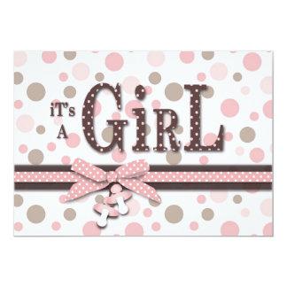 "Girl Baby Shower Invitation 5"" X 7"" Invitation Card"