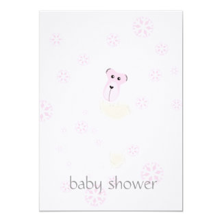 Girl Baby Shower 5x7 Paper Invitation Card