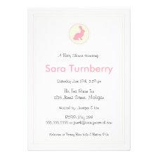 Girl Baby Shower Invitation - Bunny