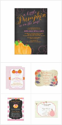 Girl Baby Shower Invitations for Fall