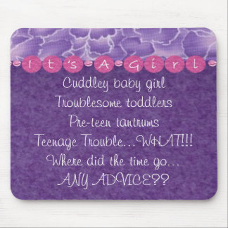 Girl-baby shower mouse pad