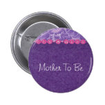 Girl-baby shower pinback buttons