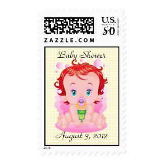 Girl Baby Shower Postage