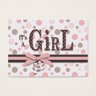 Girl Baby Shower Reminder Card