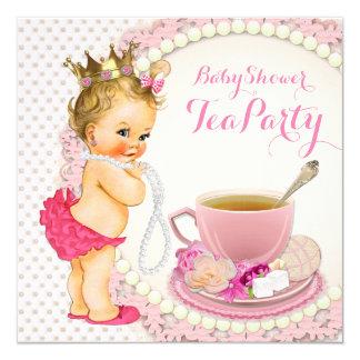 Tea Party Baby Shower Invitations Amp Announcements Zazzle