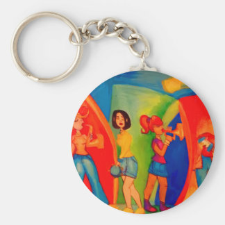 Girl band Jam session Keychain