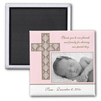 Girl Baptism Christening Favor - Photo Magnet