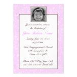 Girl Baptism / Christening Personalized Invitations