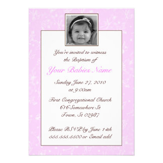 Girl Baptism Christening Personalized Invitations