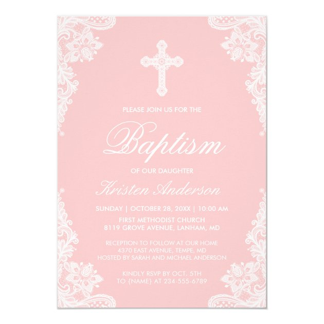Girl Baptism Invitation Custom First Communion Shabby Chic Rustic Blush Pink white Peonies Personalized Christening Baptism Invite idbi7