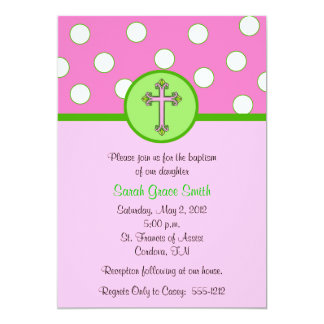 Girl Baptism Invitation