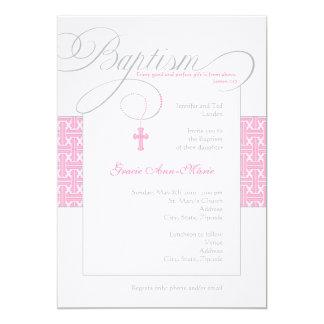 "Girl Baptism Invitation 5"" X 7"" Invitation Card"