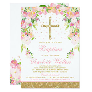 Girl Baptism Invitations & Announcements | Zazzle