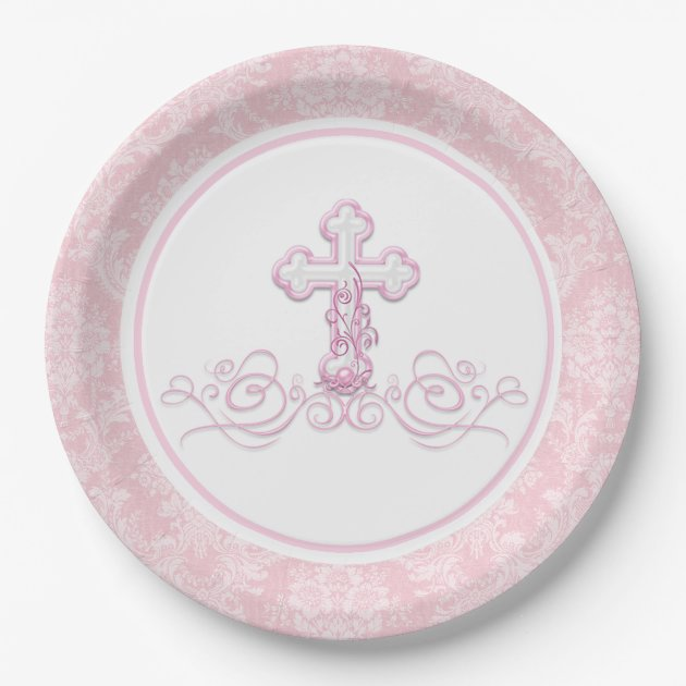 sc 1 st  Zazzle & Girl Baptism Paper Plates | Zazzle.com