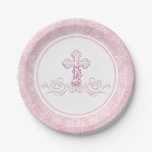 Girl Baptism Plates | Zazzle