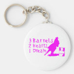 GIRL BARREL RACING KEYCHAIN