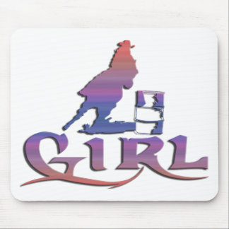 GIRL BARREL RACING MOUSEPAD