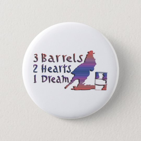 GIRL BARREL RACING PINBACK BUTTON