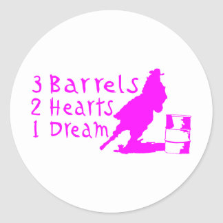 GIRL BARREL RACING ROUND STICKERS