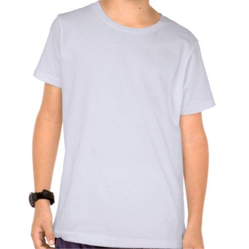 Girl Baseball Cartoon Character swinging bat T Shirts