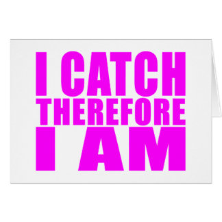 Girl Baseball Catchers : I Catch Therefore I Am Card