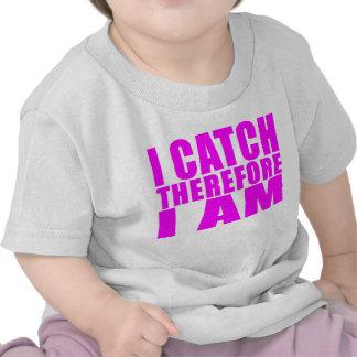 Girl Baseball Catchers : I Catch Therefore I Am Shirt
