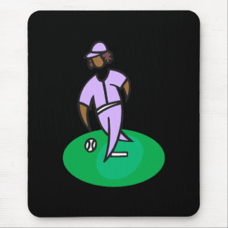 Girl Baseball Mouse Pad