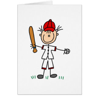 Girl Baseball Player Card