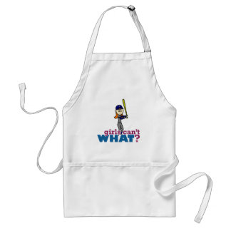 Girl Baseball Player in Blue Adult Apron