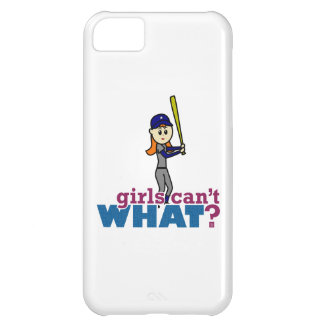 Girl Baseball Player in Blue iPhone 5C Covers