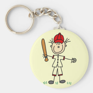 Girl Baseball Player Tshirts and Gifts Basic Round Button Keychain