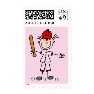 Girl Baseball Player Tshirts and Gifts Postage