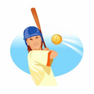 Girl Baseball Statuette