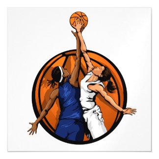 Girl Basketball Jumpball Magnetic Card