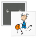 Girl Basketball Player Tshirts and Gifts Pinback Buttons