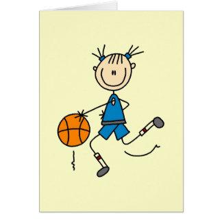 Girl Basketball Player Tshirts and Gifts Card
