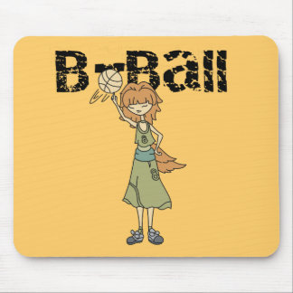 Girl Basketball Player Tshirts and Gifts Mouse Pad